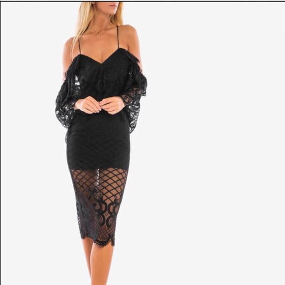 Alice Mccall Dresses New Lace Black Dress Sz 2 Xs Poshmark